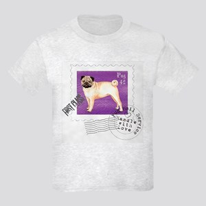 Pug Stamp Kids Light T-Shirt