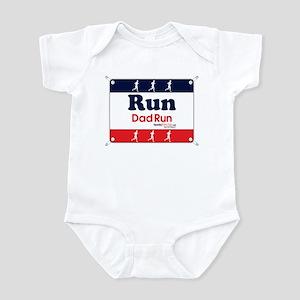 Race Bib Run Dad Infant Bodysuit