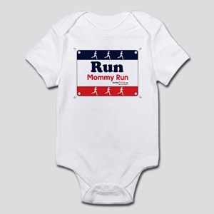 Race Bib Run Mommy Infant Bodysuit
