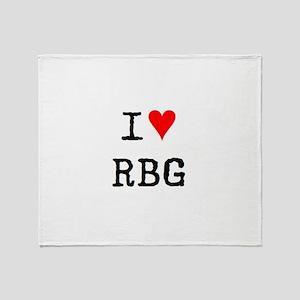 i love rbg Throw Blanket