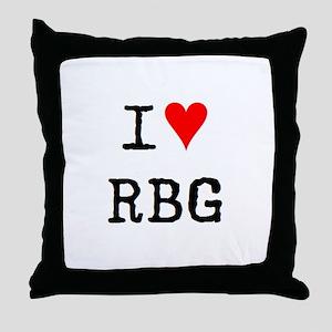 i love rbg Throw Pillow