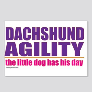 Dachshund Agility Postcards (Package of 8)