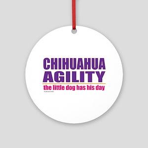 Chihuahua Agility Ornament (Round)
