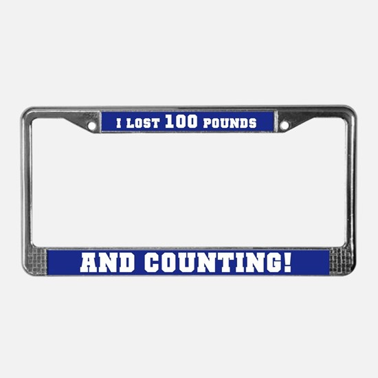 100 Pounds Lost License Plate Frame