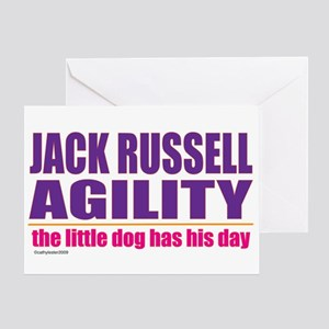 Jack Russell Agility Greeting Card