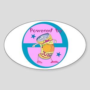 Powered By Juice Oval Sticker