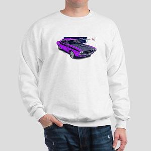 Dodge Challenger Purple Car Sweatshirt