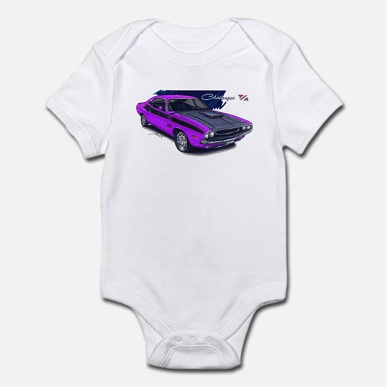 Dodge Challenger Purple Car Infant Bodysuit