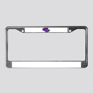 Dodge Challenger Purple Car License Plate Frame