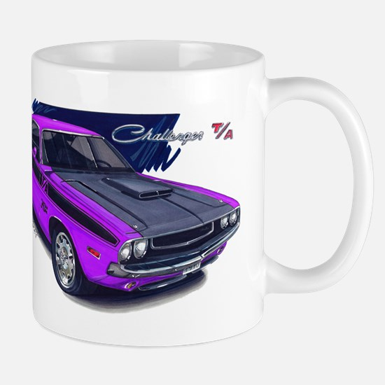 Dodge Challenger Purple Car Mug