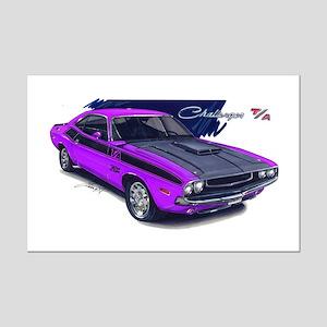 Dodge Challenger Purple Car Mini Poster Print