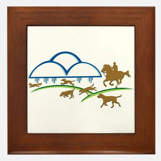 Cloudline Horse and Hound Framed Tile