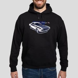 Dodge Challenger White Car Hoodie (dark)