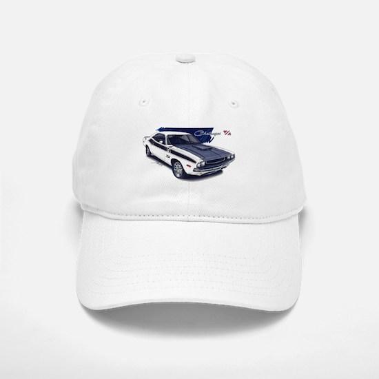 Dodge Challenger White Car Baseball Baseball Cap