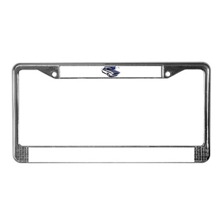 Dodge Challenger White Car License Plate Frame by MaddDoggsMopars