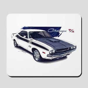 Dodge Challenger White Car Mousepad