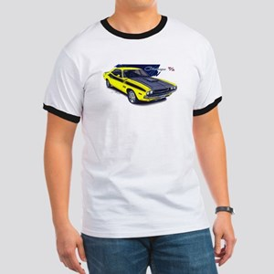 Dodge Challenger Yellow Car Ringer T
