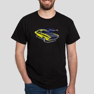Dodge Challenger Yellow Car Dark T-Shirt