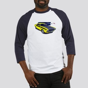 Dodge Challenger Yellow Car Baseball Jersey