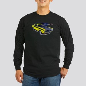 Dodge Challenger Yellow Car Long Sleeve Dark T-Shi