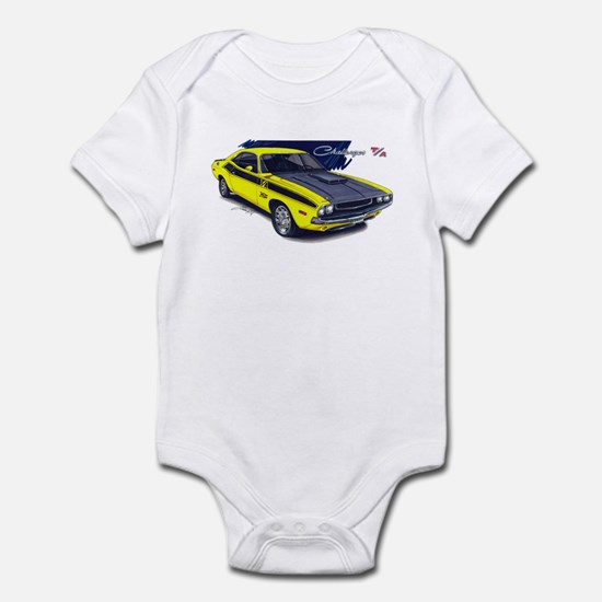 Dodge Challenger Yellow Car Infant Bodysuit