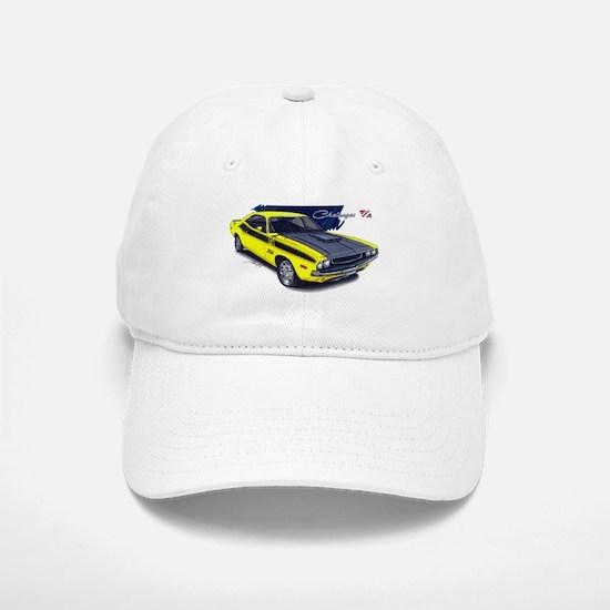 Dodge Challenger Yellow Car Baseball Baseball Cap