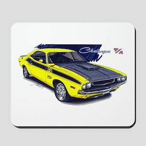 Dodge Challenger Yellow Car Mousepad