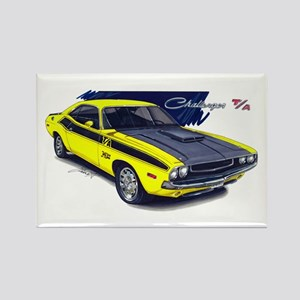 Dodge Challenger Yellow Car Rectangle Magnet
