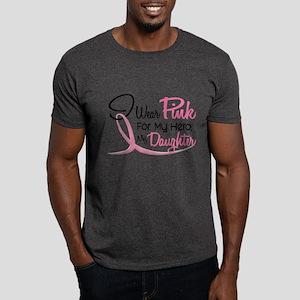 Pink For My Hero 3 DAUGHTER Dark T-Shirt