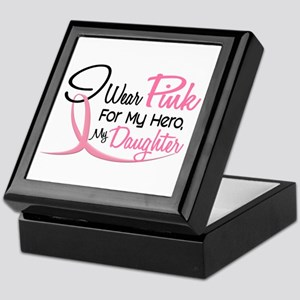 Pink For My Hero 3 DAUGHTER Keepsake Box
