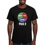 Good, Fast, Cheap Men's Fitted T-Shirt (dark)