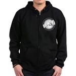 Polar Bear & Cub Zip Hoodie (dark)