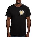 Polar Bear & Cub Men's Fitted T-Shirt (dark)