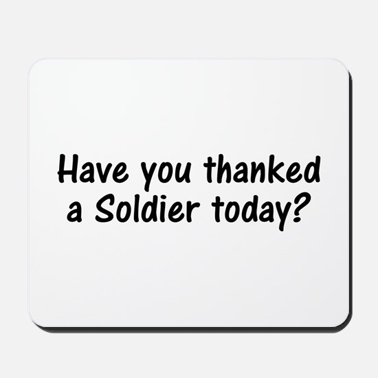 Thank A Soldier Gifts Mousepad
