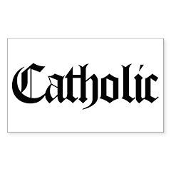 Catholic Rectangle Sticker 10 pk)