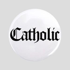 "Catholic 3.5"" Button"