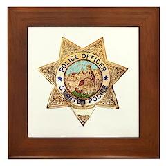 Stanton Police Framed Tile