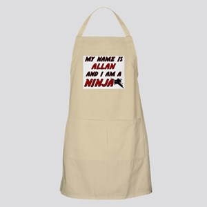 my name is allan and i am a ninja BBQ Apron