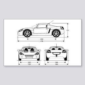 VX220 Rectangle Sticker