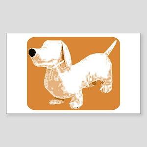 Retro Sausage Dog Rectangle Sticker