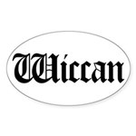 Wiccan Oval Sticker (10 pk)