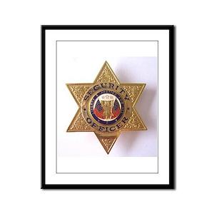 Framed Panel Print Security Officer