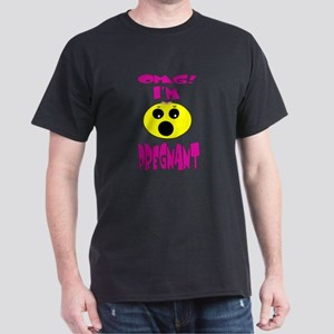 OMG I'm Pregnant Shocked Face Dark T-Shirt