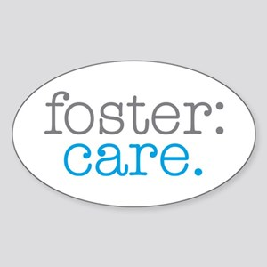 foster:care. Oval Sticker