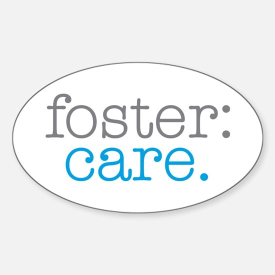 foster:care. Oval Stickers