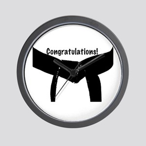 Black Belt Congratulations Wall Clock