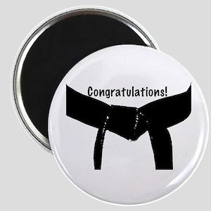 Black Belt Congratulations Magnet