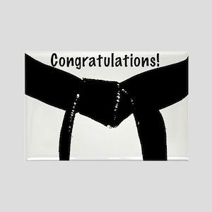 Black Belt Congratulations Rectangle Magnet