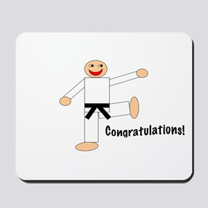 Black Belt Congratulations Mousepad
