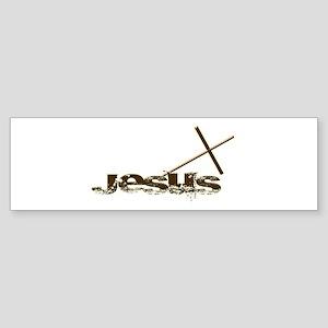 Jesus cross Bumper Sticker